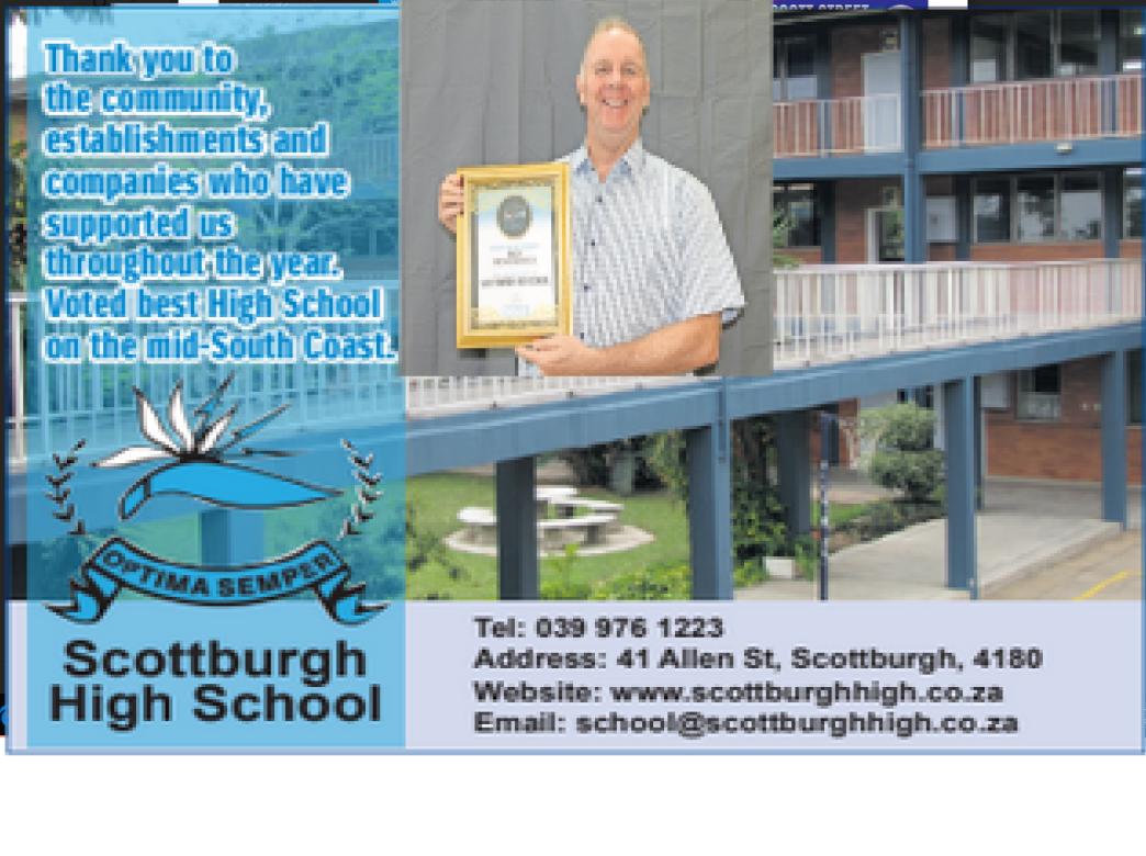 Scottburgh High voted best High School.