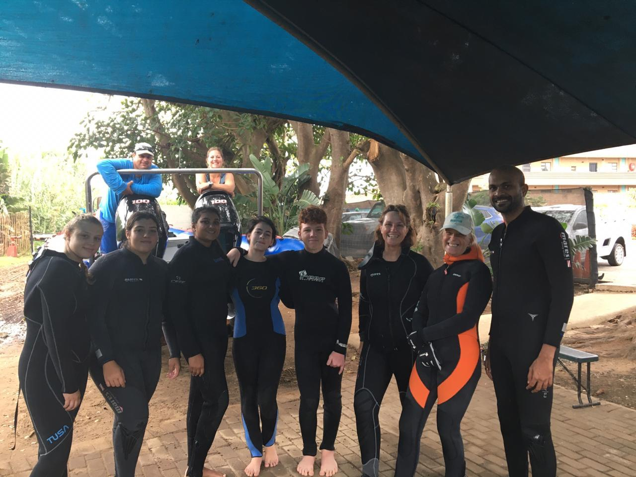 Scottburgh High Scuba Diving team.